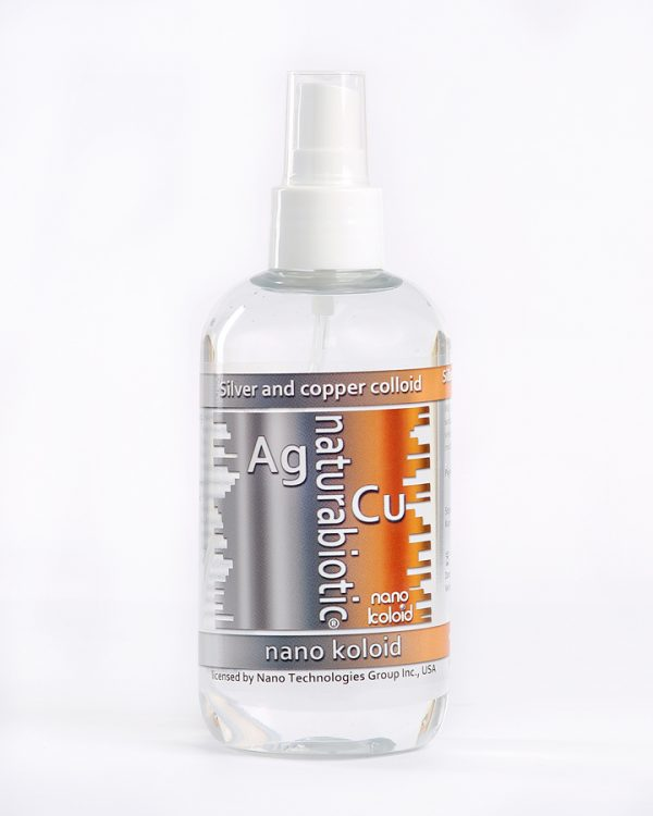 Silver with Colloidal Copper Naturebiotic Ag / Cu 100 PPM - 250 ml with an atomizer