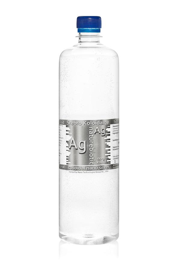 Srebro Koloidalne Naturebiotic Ag 50 PPM- 980 ml z zakrętką