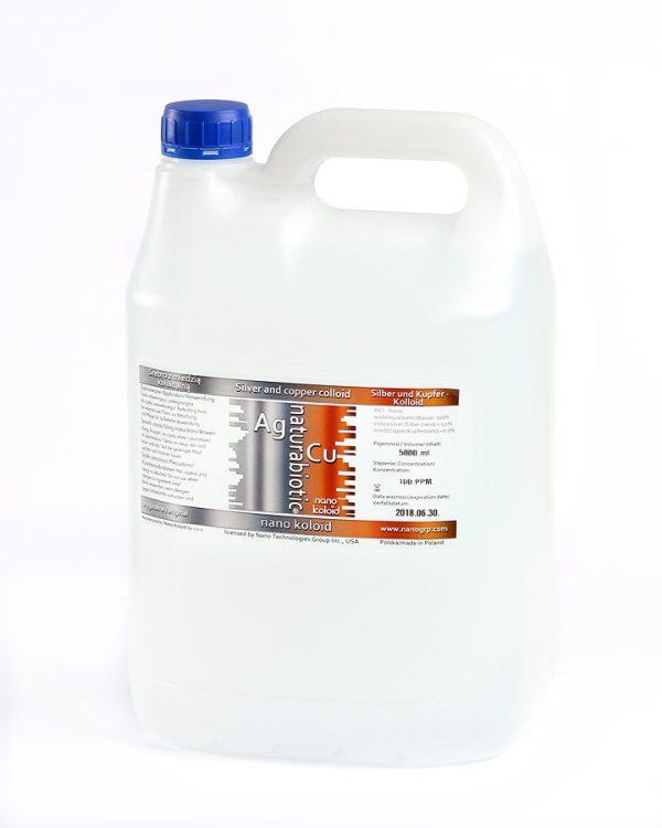 Srebro z Miedzią Koloidalną Naturebiotic Ag/Cu 100 PPM - 980 ml z zakrętką