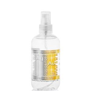 Colloidal Silver with Gold Naturebiotic Ag 50 / Au 25 PPM - 250 ml with an atomizer