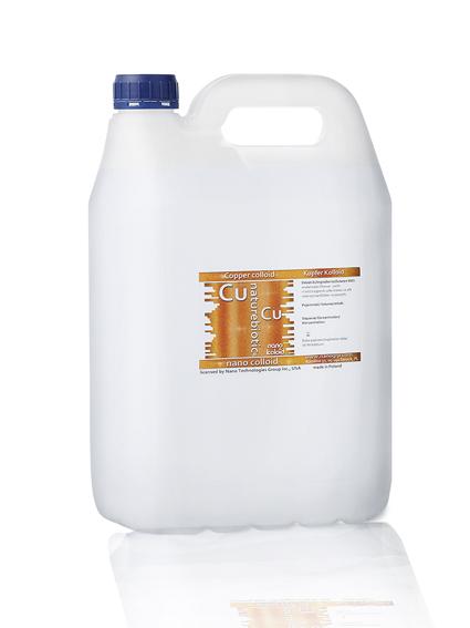Miedź Koloidalna Naturebiotic Cu 50 PPM - 5 l karnister