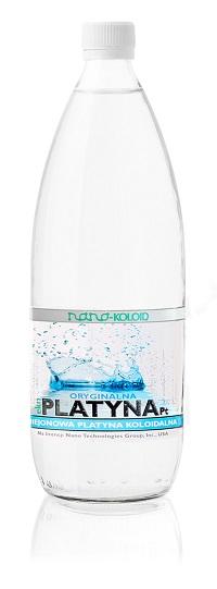 Platyna Koloidalna Naturebiotic Pt 10 PPM - 1000 ml w szklanej butelce