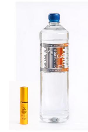 Srebro z Miedzią Koloidalną Naturebiotic Ag/Cu 100 PPM – 980ml z zakrętką + GRATIS 5 ml Serum Złota lub Serum Platyny